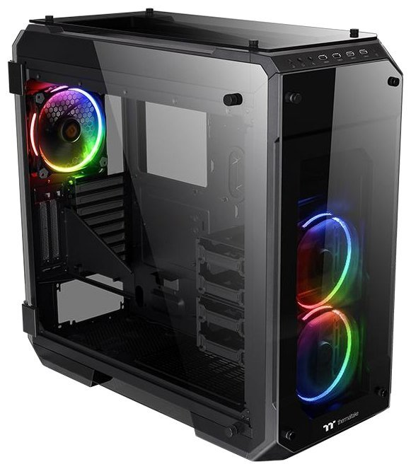 Отзывы Компьютерный корпус Thermaltake View 71 Tempered Glass RGB CA-1I7-00F1WN-01 Black