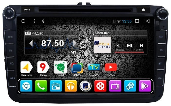 Отзывы Daystar DS-7080HD Volkswagen 6.2″ ANDROID 7
